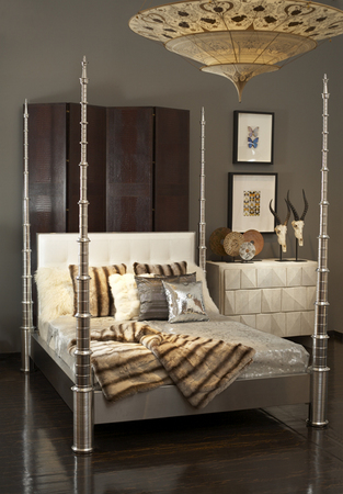 Signature Four Poster Bed Made Of Stainless Steel Aluminum 72 L X 92 W 95 H